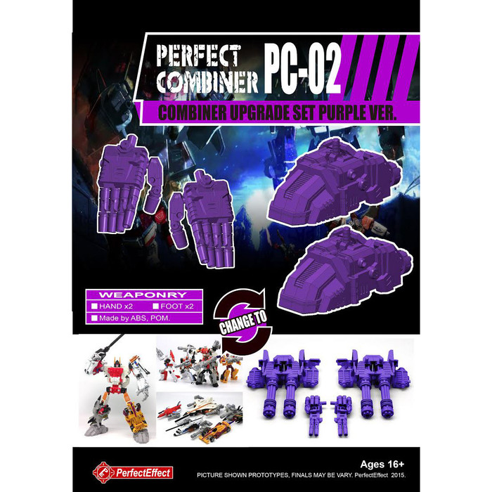 Perfect Effect PC-02 Perfect Combiner Upgrade Set - Purple Version (Re-Stock)