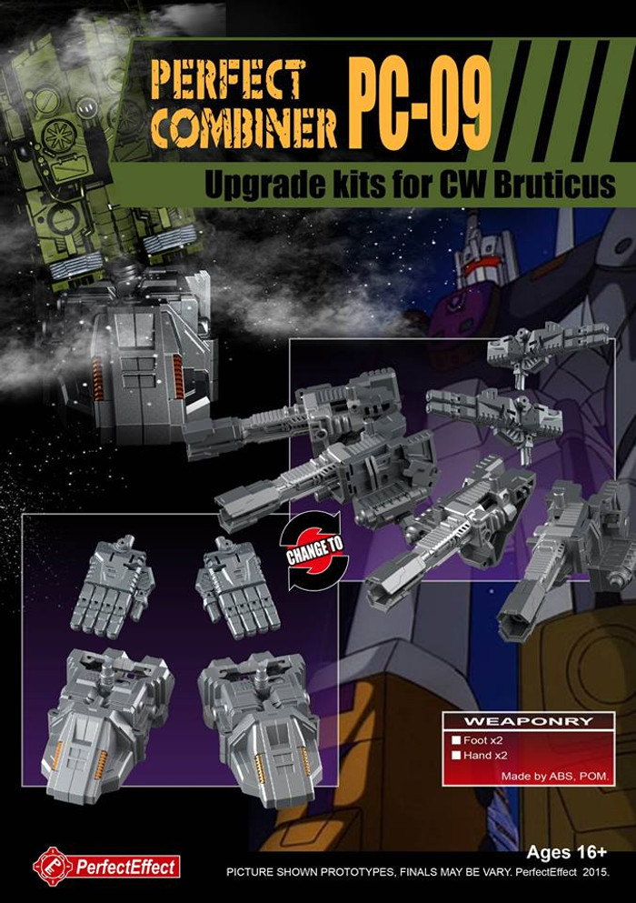 Perfect Effect - PC-09 Perfect Combiner Upgrade Set for Combiner Wars Bruticus (Re-stock)