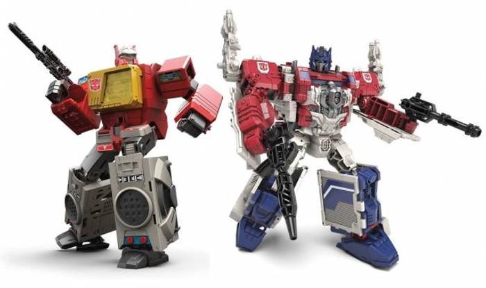 Transformers Generations Titans Return - Leader Class Powermaster Optimus Prime & Blaster (Set of 2)