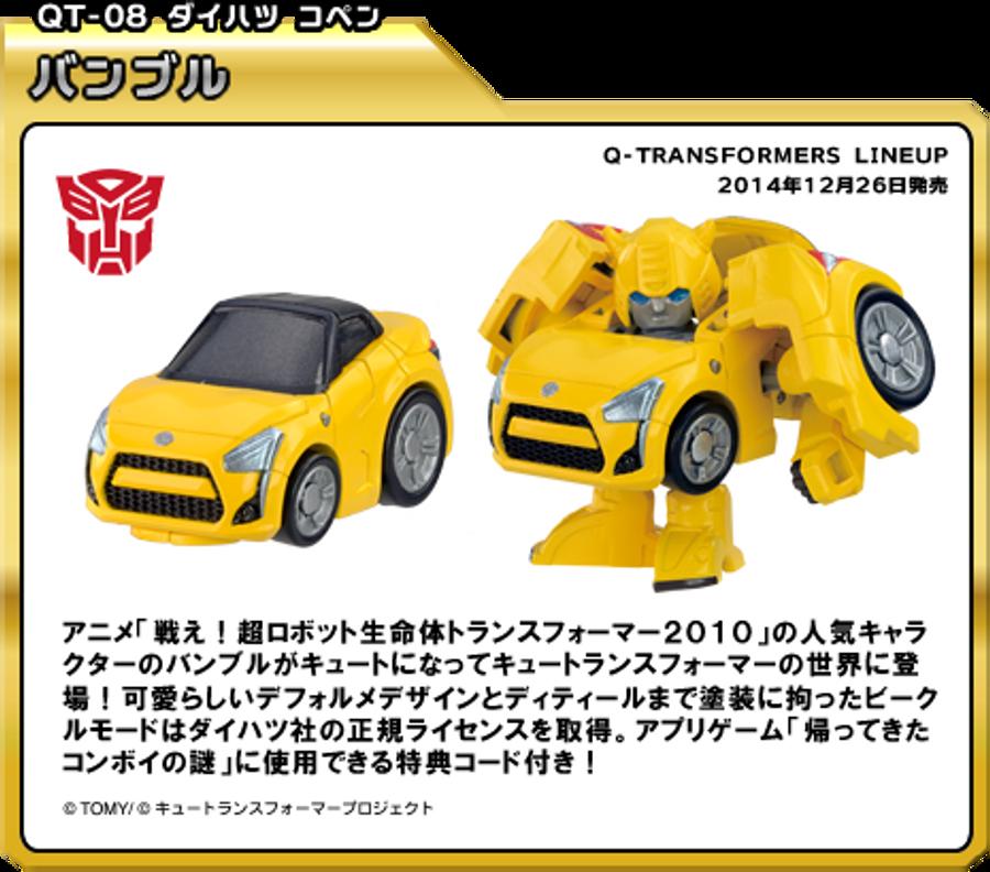 Q Transformers Series 1 - QT08 G1 Bumblebee