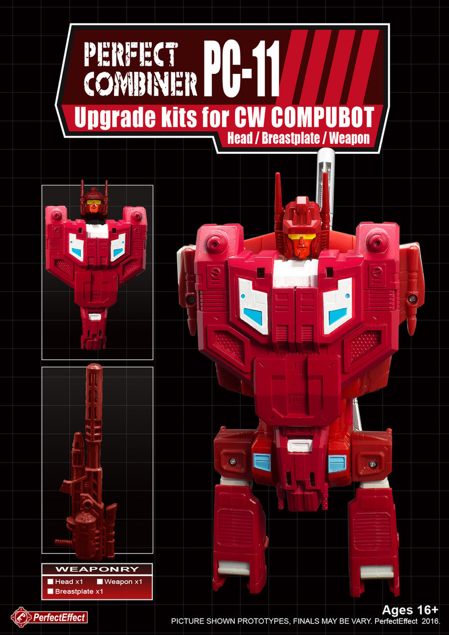 Perfect Effect - PC-11 Perfect Combiner Upgrade Set for Combiner Wars Scattershot