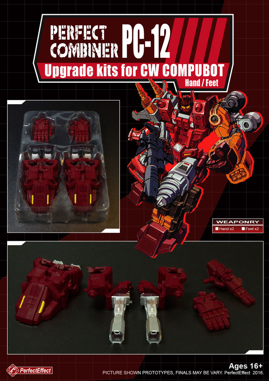 Perfect Effect - PC-12 Perfect Combiner Upgrade Set for Combiner Wars Scattershot (Hands / Feet)