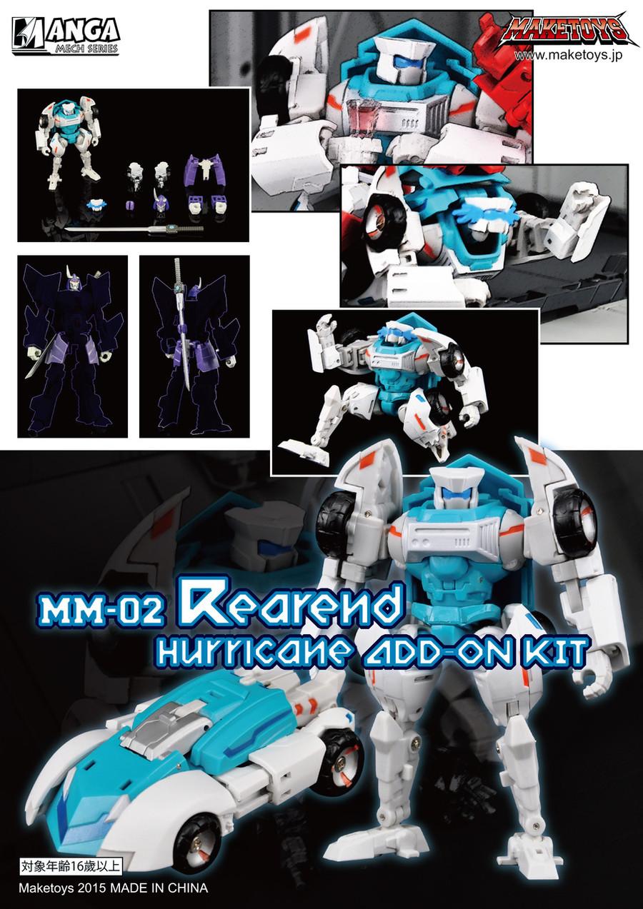 Maketoys - Manga Mech - Rearend and Hurricane Add On Kit - RESTOCK