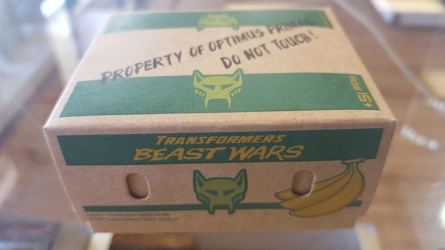 Masterpiece Optimus Primal Promo Item: Banana Box