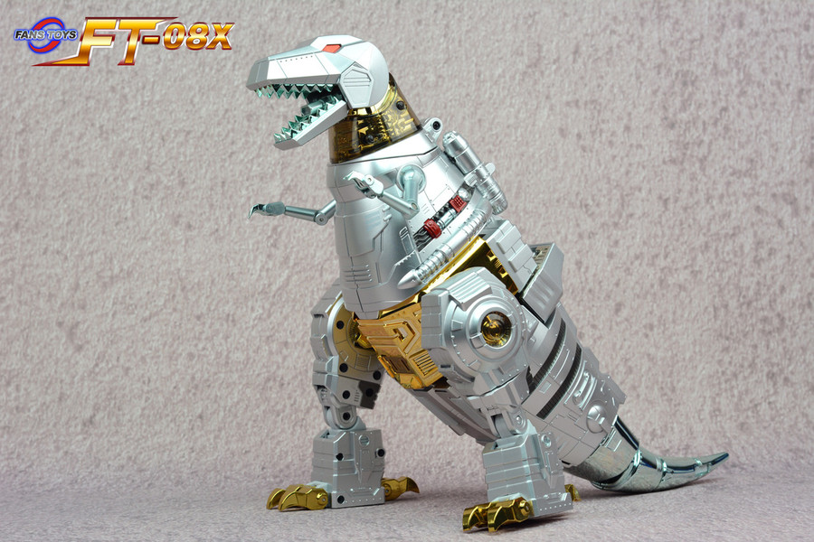 Fans Toys - FT-08X Silver Painted Grinder Dinohead Upgrade