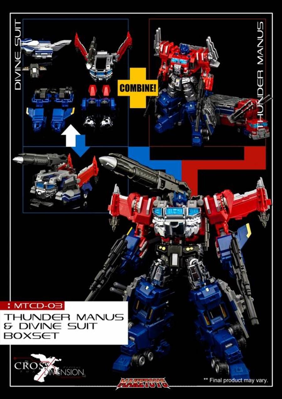 MakeToys - Cross Dimension - MTCD-03 Thunder Manus + Divine Suit Boxset