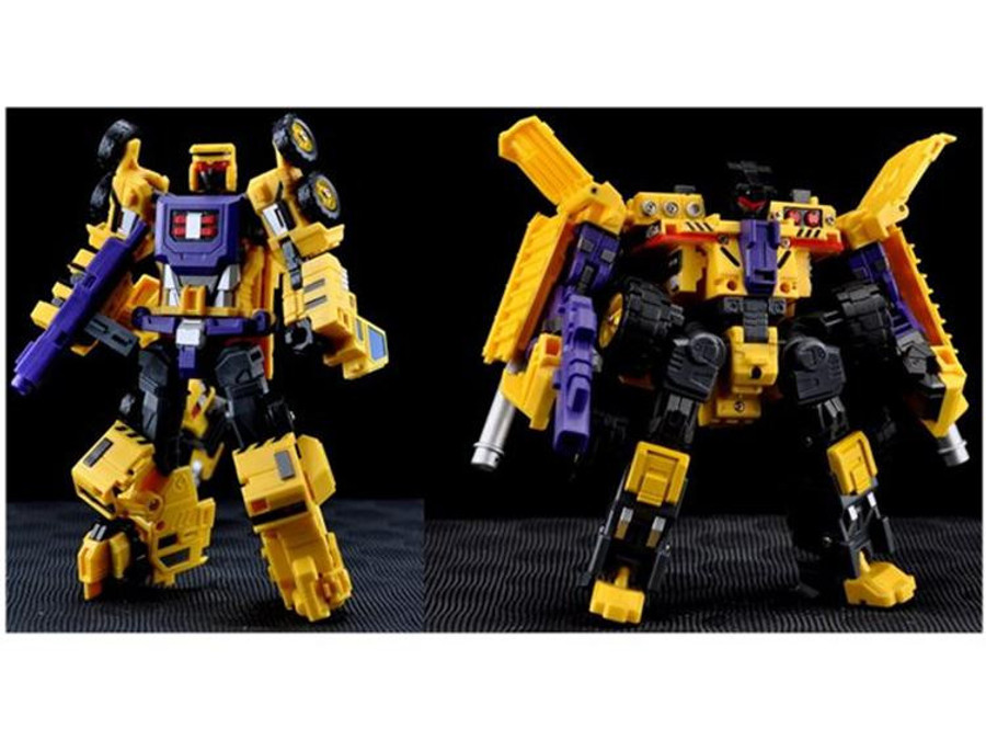 Maketoys - MTCombiner - Yellow Giant - Set of Crane & Dump Truck