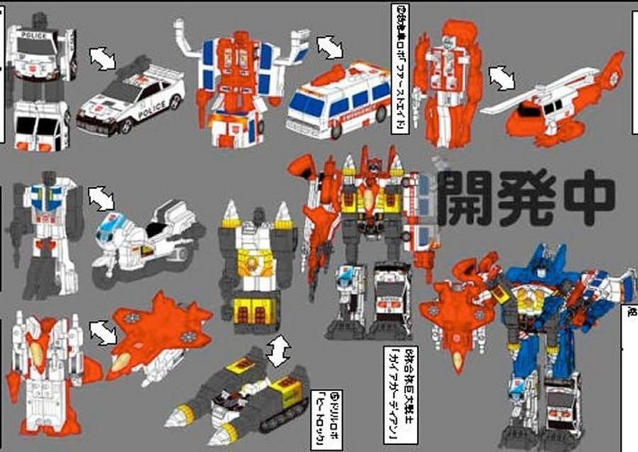 Kabaya Transformers Gum Series - Defensor / Protectobot Set