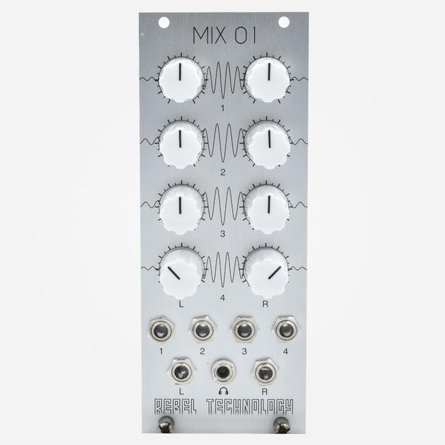 Rebel Technologies MIX 01 Dual Output Eurorack Mixer and Output Module