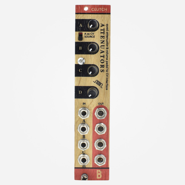 Bastl Instruments CLUTCH Eurorack Quad Attenuator or Quad Volume Pedal Interface Module