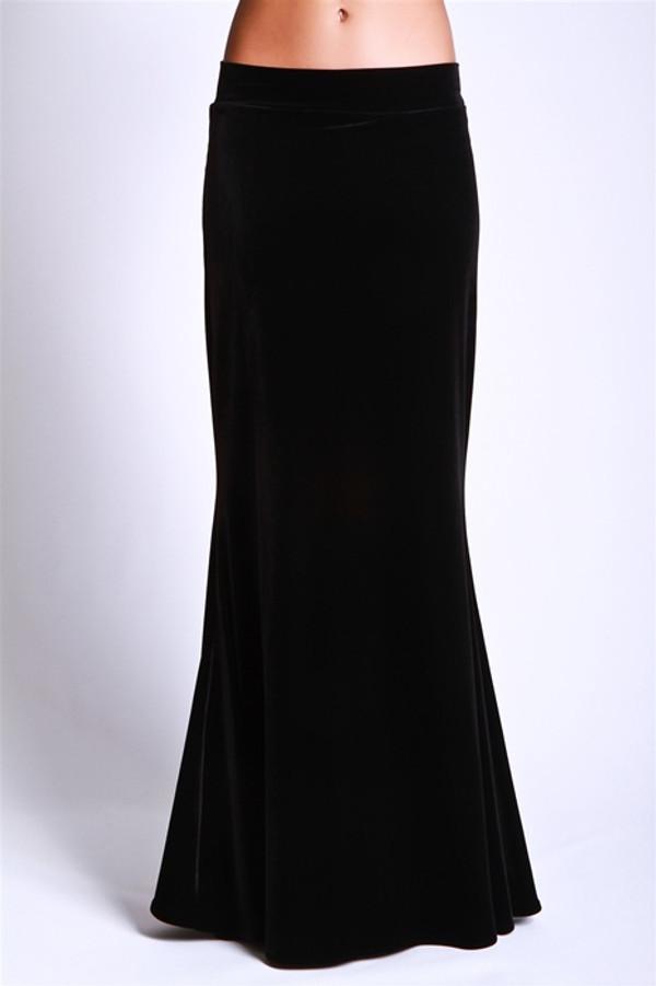 Velvet Mermaid Maxi Skirt