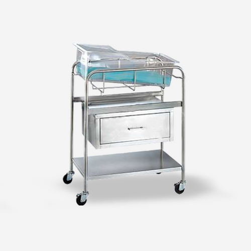 """BS-6420 - Coleman Model Bassinet w/ drawer (no basket) and 4"""" casters"""