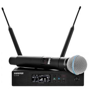 Shure QLXD24/B58 Digital Wireless Handheld Microphone System with BETA58A Cartridge