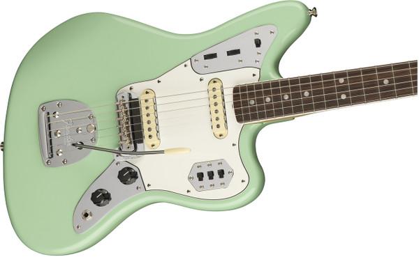 Fender American Original '60s Jaguar Electric Guitar with Rosewood Fingerboard-Surf Green