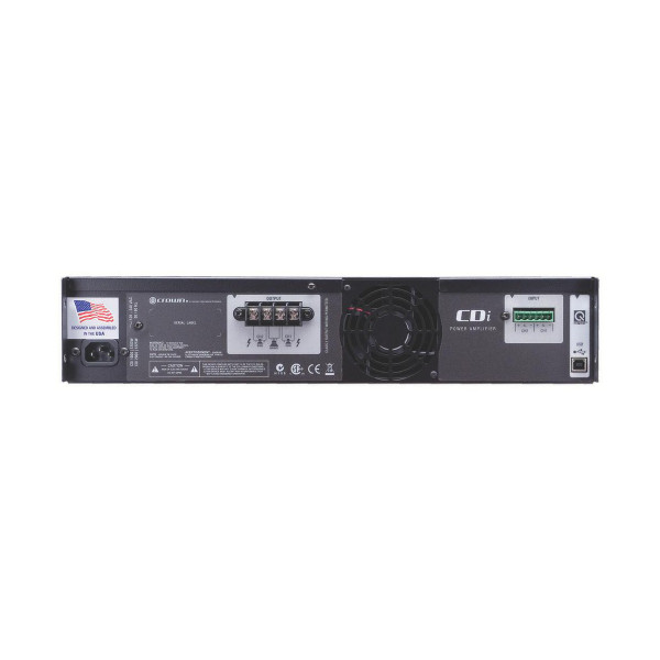 Crown CDI4000 Power Amplifier, Dual Channel, 1,200W @ 4 Ohms/1,000W @ 70V per channel
