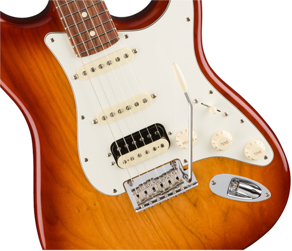 Fender American Professional Stratocaster HSS Shawbucker Electric Guitar Rosewood Fingerboard, Sienna Sunburst Finish