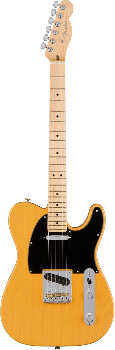 Fender American Professional Telecaster Electric Guitar Maple Fingerboard-Butterscotch Blonde