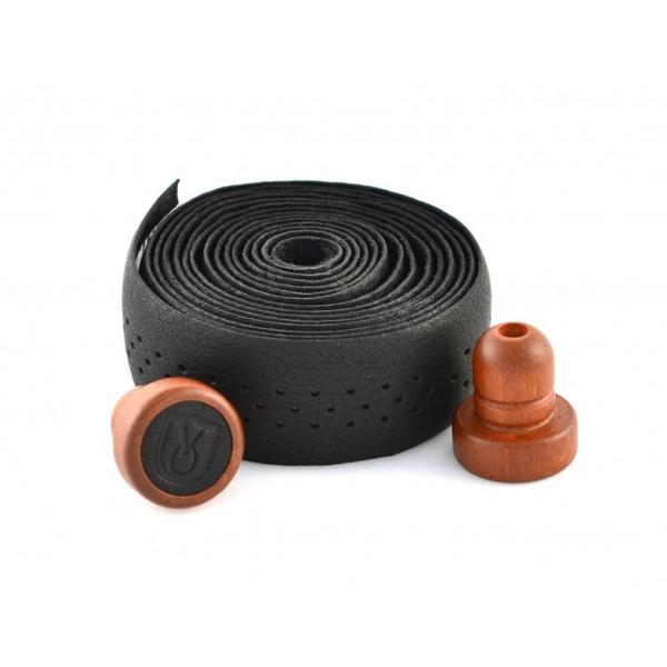 Velo Orange Grand Cru Perforated Seamless Leather Bar Tape w/ Wooden Plugs