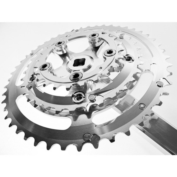 Velo Orange Grand Cru 110 Fluted Triple Crankset - 24x34x48t