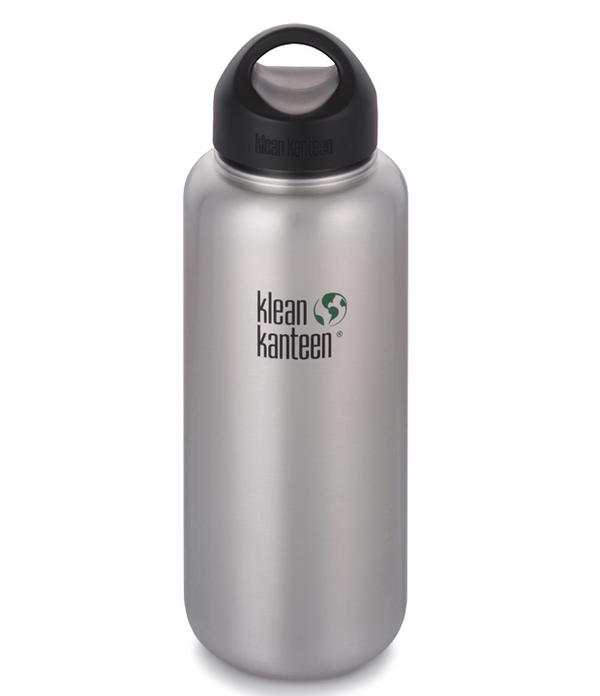 Klean Kanteen wide mouth with Loop cap brushed stainless