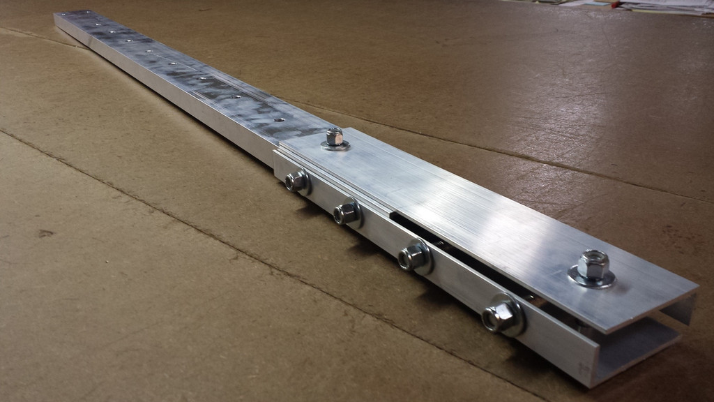 """14"""" Rail Connecting Hardware with 2014 Center Drilled 4' Rail"""
