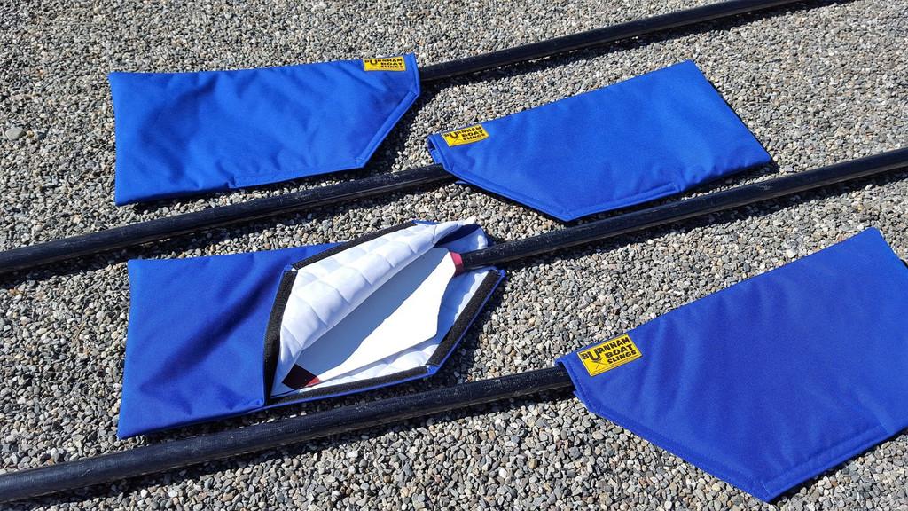 Fully padded Nylon Cordura.  Easy to use Velcro closure.