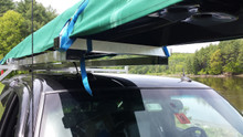CT 4X System: Box 16X2 Gunwale Rack with 4X, Strap & Buckle Sunbrella Cover, and Tie downs