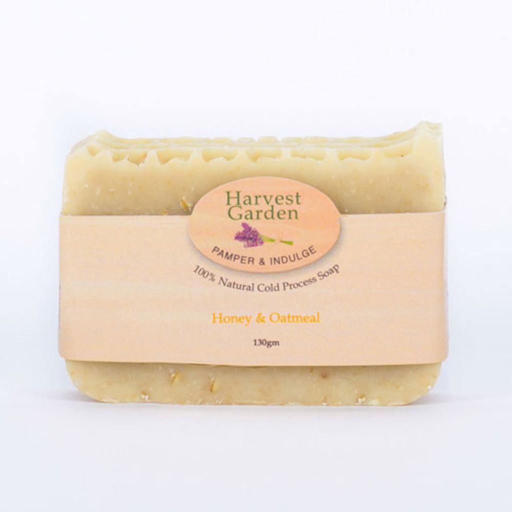Luxury Honey & Oatmeal 130gm Harvest Garden hand poured soap bar