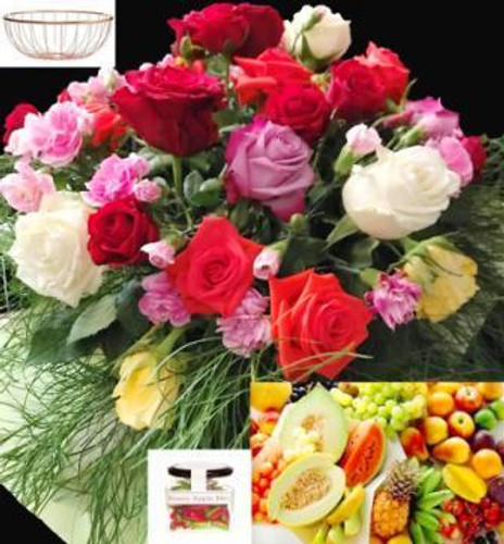 218 RBFF4 Fruit Candy & Flowers - Sydney Delivery Only. Freight Included.