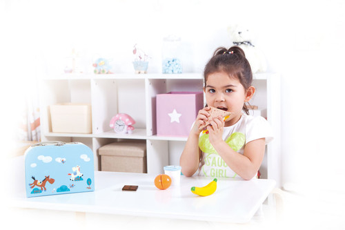 LelinWooden Sandwich pretend play food set - Pretend play toy food - Sandwich making set for children- (Wooden Play Food 13 pieces)