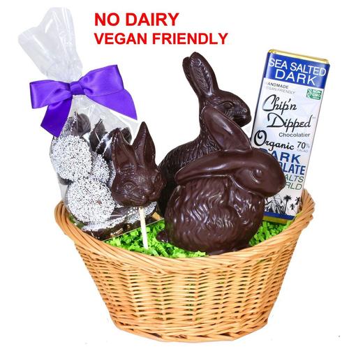 Vegan easter basket chipn dipped chocolatier organic chocolate easter basket negle Images