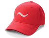 RED 100% polyester brushed microfiber Six-panel, mid-crown structured, matching sewn eyelets. Pre-curved visor, contrast color sandwich visor. Soft, mesh white nylon lining in crown, Moisture management wicking fabric, self-fabric Velcro® closure. Grey Embroider Logo and Name Preferred Golfers Wear