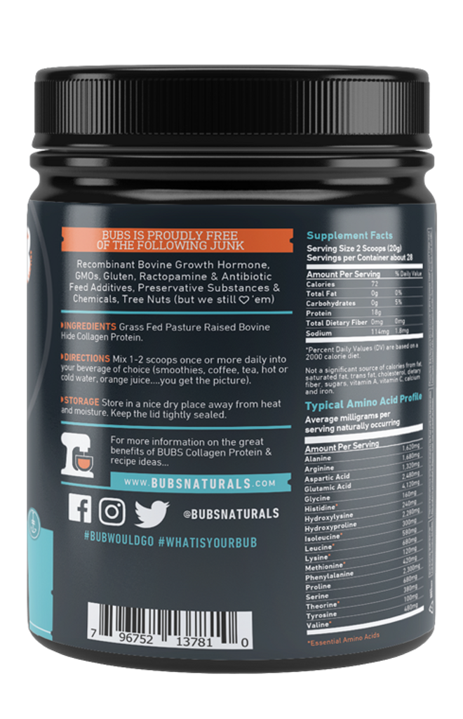 BUBS Natural Collagen Protein