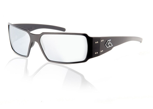 Black Frame w/ Grey Chrome Lens