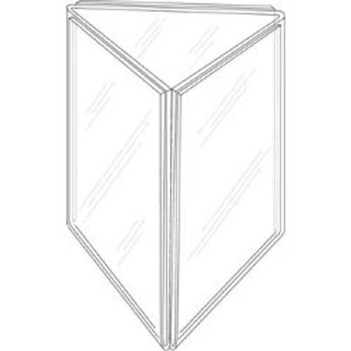 4x6 Three Panel Sign Holder  sc 1 st  Buy Acrylic Displays : three sided table tent - memphite.com
