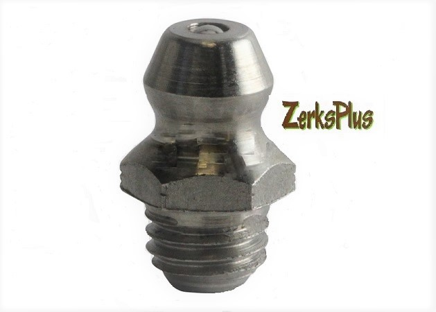 1/4-28 Taper Stainless Steel Straight Grease Zerk Nipple Fitting 2 Pcs