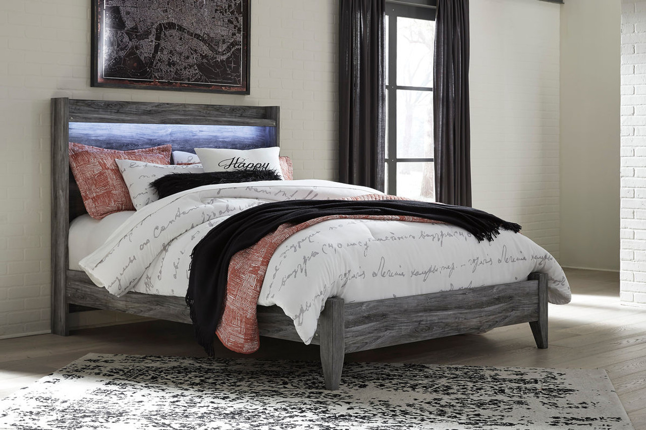 The Baystorm Gray Queen Panel Bed available at Logan Furniture ...