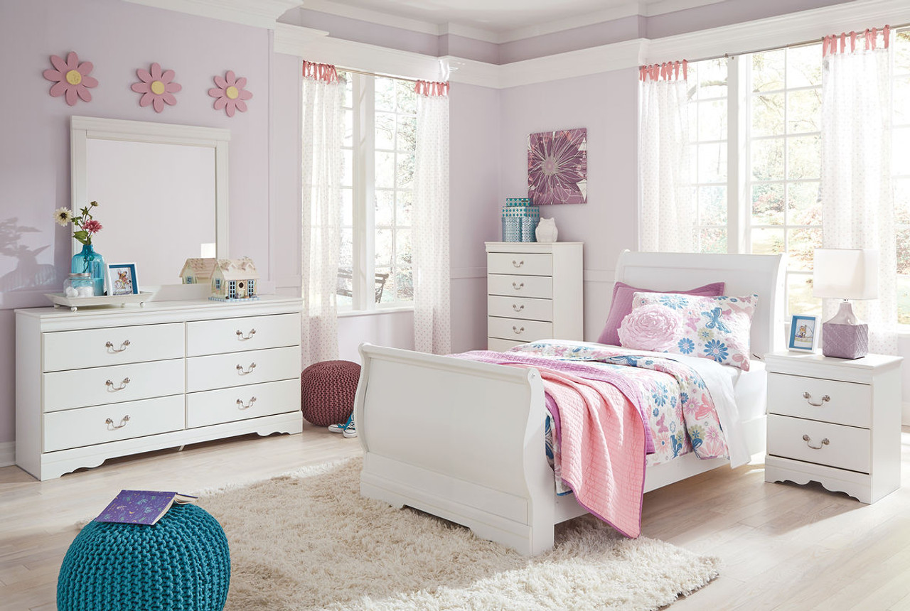 The Anarasia White 6 Pc. Twin Bedroom Collection available at Logan ...