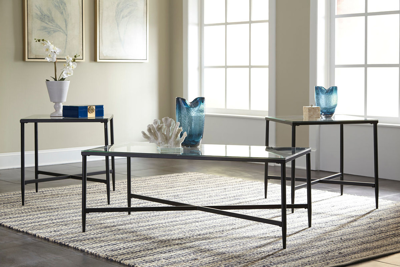 Augeron Black Occasional Table Set & The Augeron Black Occasional Table Set available at Logan Furniture ...