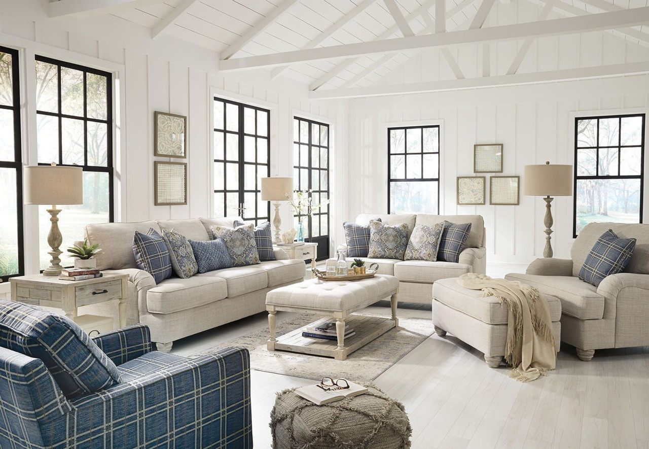 The Traemore Linen Sofa, Loveseat, Chair and a Half, Ottoman, Accent ...