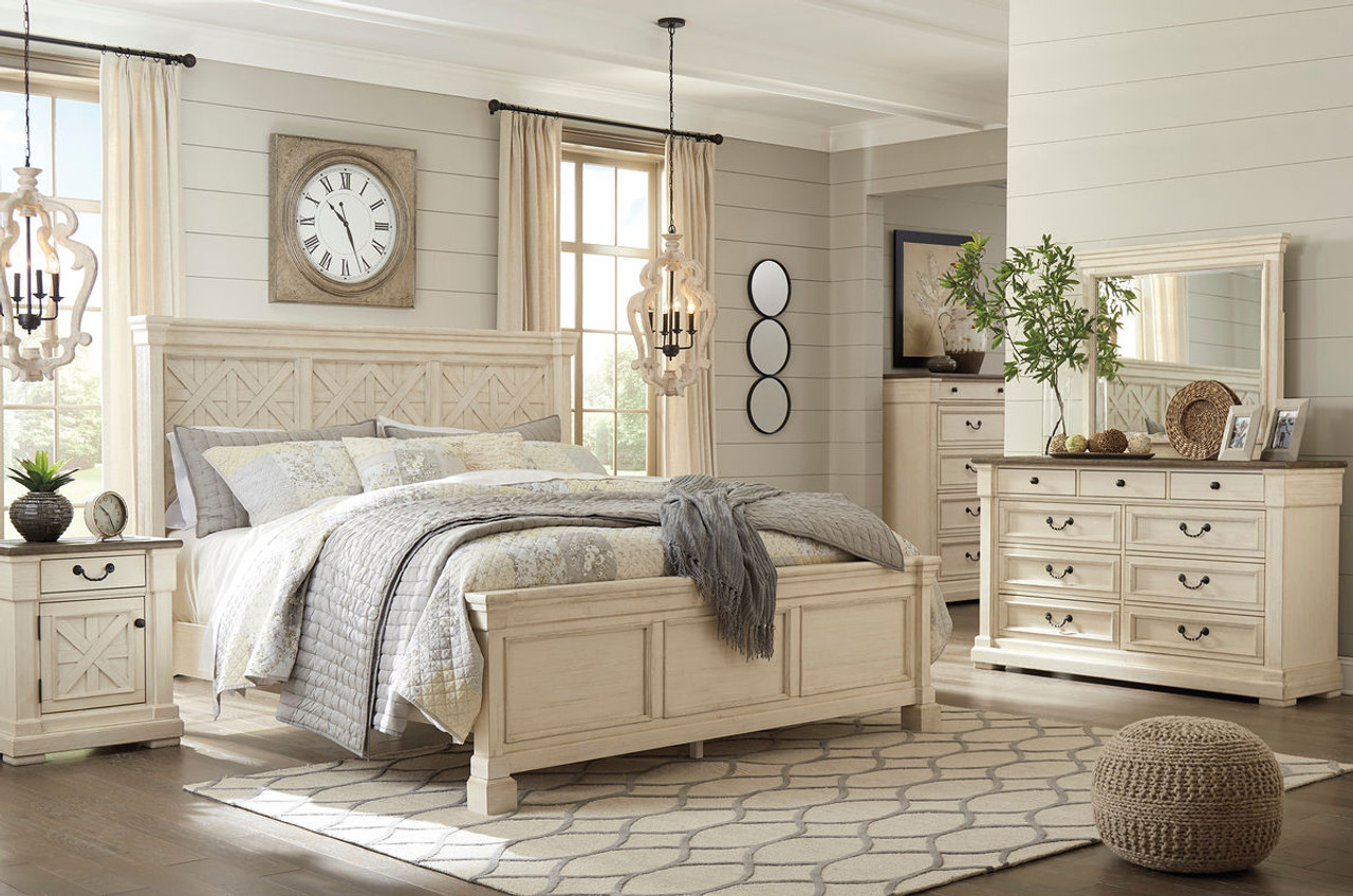 The Bolanburg Two-tone 8 Pc.King Panel Bedroom Collection available ...