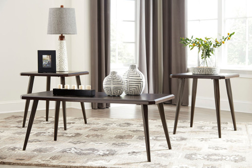 Fazani Dark Brown Occasional Table Set & The Fazani Dark Brown Occasional Table Set available at Logan ...