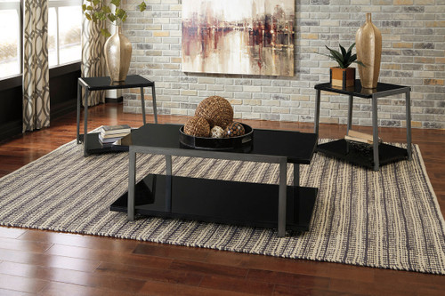 Rollynx Black Occasional Table Set ... & The Rollynx Black Occasional Table Set available at Logan Furniture ...