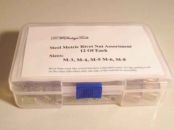 Steel Rivet Nut Threaded insert assortment.