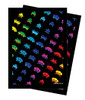 Turn One Gaming - Deck Protector - 50 Count - MATTE - Space Invaders Rainbow