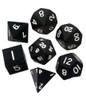 Metallic Dice Games - 16mm Polyhedral Dice  (Set of 7) - Black