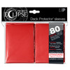 Ultra Pro ECLIPSE PRO-Matte Deck Protector - Standard Size Non-Glare Card Sleeves - 80 Count - RED