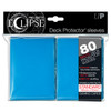 Ultra Pro ECLIPSE PRO-Matte Deck Protector - Standard Size Non-Glare Card Sleeves - 80 Count - LIGHT BLUE