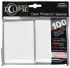 Ultra Pro ECLIPSE 2.0 PRO-Matte Deck Protector - Std Size Non-Glare Card Sleeves - 100 Count - ARCTIC WHITE