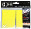 Ultra Pro ECLIPSE 2.0 PRO-Matte Deck Protector - Std Size Non-Glare Card Sleeves - 100 Count - LEMON YELLOW